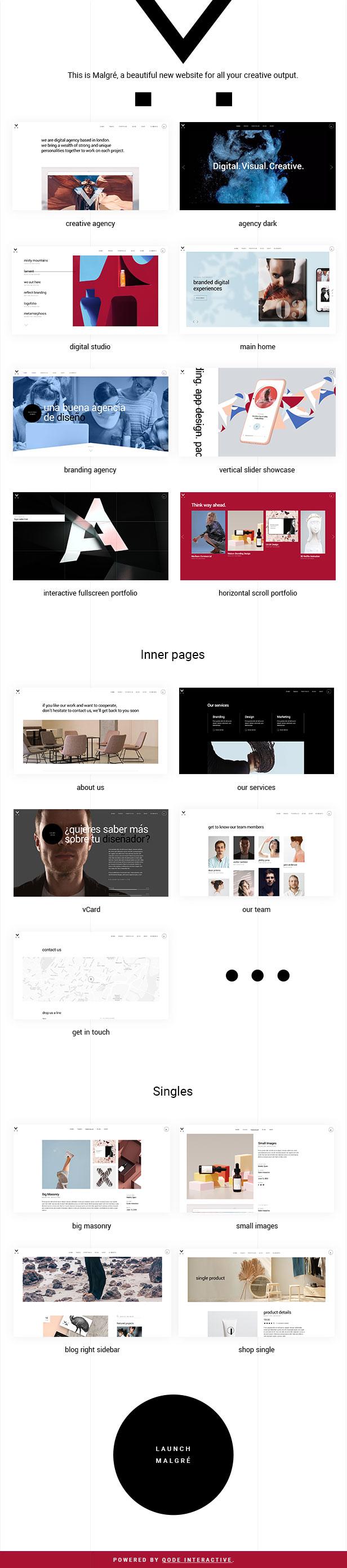 Malgré - Creative Agency Theme - 2
